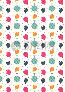 国外矢量底纹扁平卡通糖果节日气球背景图片