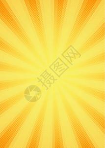 黄色科技渐变多彩方格放射直线圆点风格背景图片