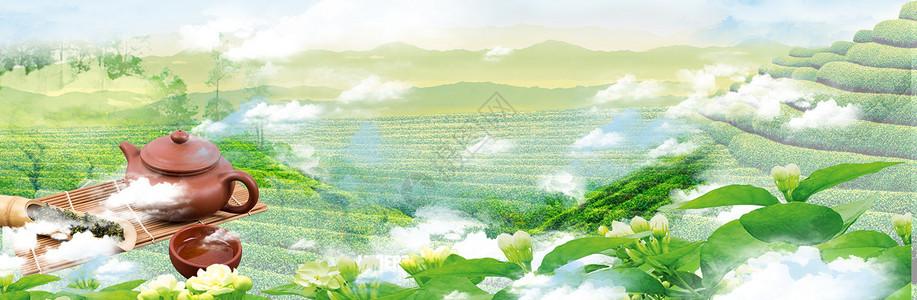 电商茶叶海报背景图图片