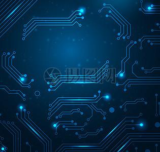 蓝色电路科技背景高清图片