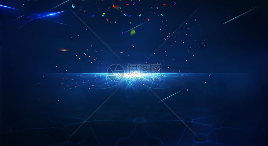 蓝色星空炫酷企业背景图片