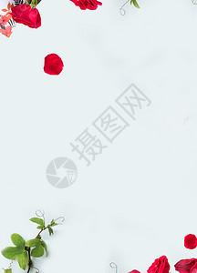 浪漫花朵海报背景图片