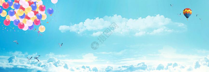 梦幻天空气球图片