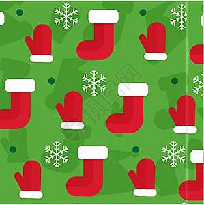 红色圣诞节圣诞老人卡通矢量背景图片