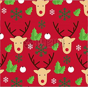 绿色红色圣诞节圣诞老人卡通矢量背景图片