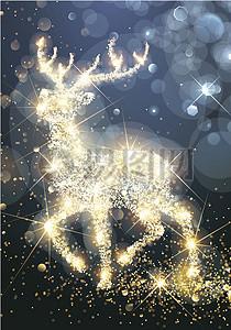 圣诞节光点麋鹿背景图片