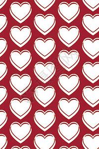 粉色红色卡通爱心可爱矢量背景图片
