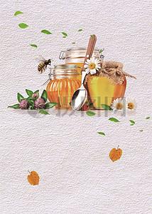 蜂蜜促销海报背景图片