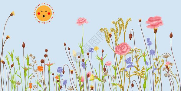 花朵矢量图案图片