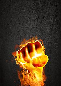 火焰拳头背景图片