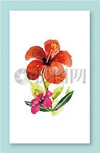 四季花卉横幅背景矢量素材图片