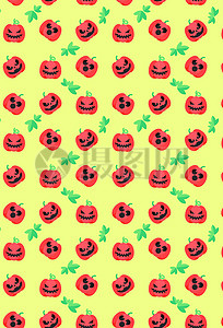 卡通可爱万圣节节日幽灵南瓜巫婆背景图片