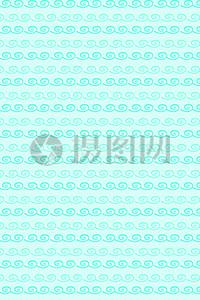 蓝色卡通波纹可爱背景图片