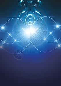 蓝色炫光科技感背景图片