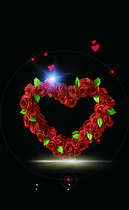玫瑰黑色背景图片