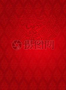 红色中国风底纹背景图片