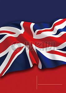 英国国旗旅游海报背景图片