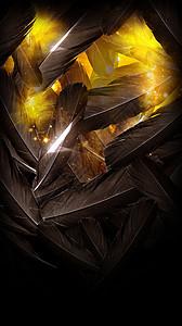 羽毛金色背景图片