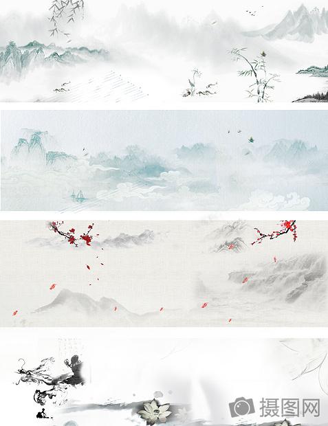 中国风复古水墨背景图片