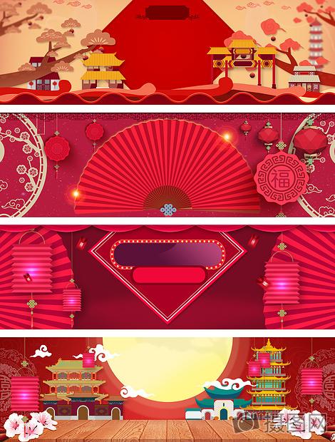 中国风海报背景图片