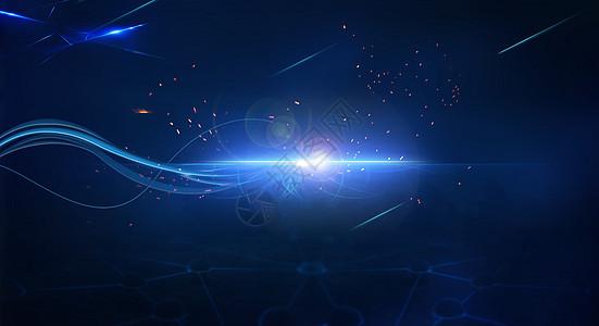 蓝色科技感商务背景图片