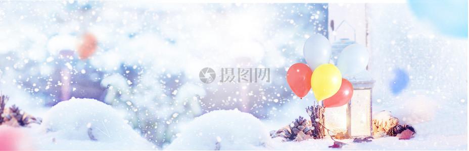 冬季淘宝海报背景图图片