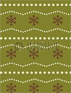圣诞节卡通小清新印花背景图片