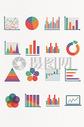 多彩图形信息图表矢量图片