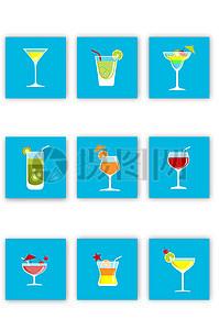 多款夏日夏季饮品矢量图素材图片