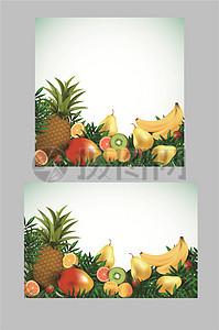 多种新鲜逼真质感水果矢量素材图片