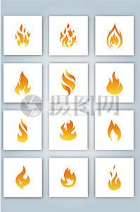 火焰图标矢量素材图片