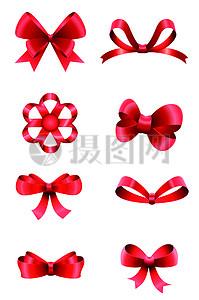 红色蝴蝶结矢量素材图片
