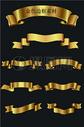金色标签框矢量图图片
