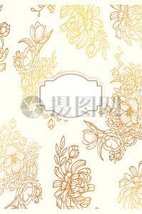 欧式古典金色花纹花边边框矢量素材图片