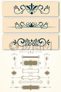 欧式简洁复古边框矢量图素材图片