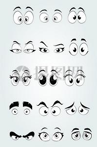 漫画卡通眼睛素材图片