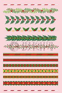 圣诞花边素材矢量图图片