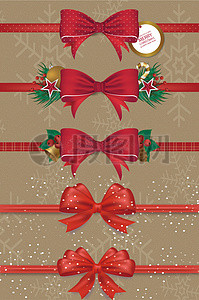 圣诞节蝴蝶结素材图片