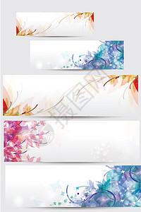 唯美花卉背景矢量图图片