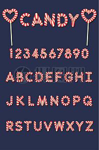 糖果立体字素材图片