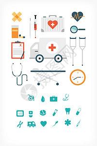 医疗设备图标矢量素材图片