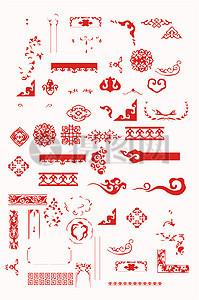 中国传统纹样边框矢量素材图片