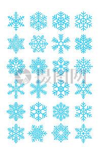 雪花素材模板图片