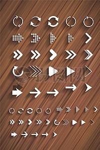 微粒体矢量箭头图标元素图片