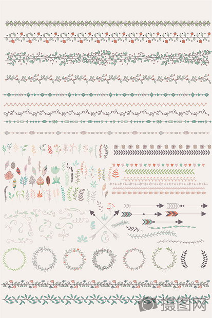 多款欧式花纹花边边框矢量素材图片
