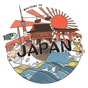 日本旅游海报素材图片