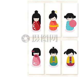可爱日本娃娃设计图片