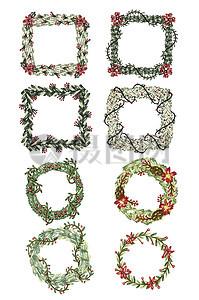 圣诞节花素材图片