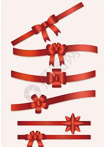 矢量丝带蝴蝶结素材图片