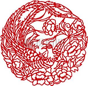 中国古典传统剪纸图案素材图片